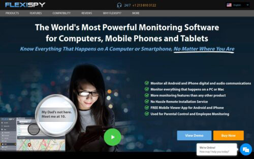 Flexispy Facebook messenger monitoring